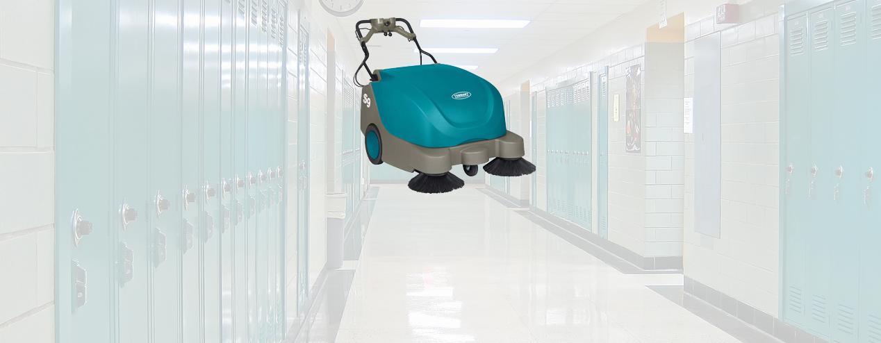 Equipamento para limpieza profesional de escuelas y universidades