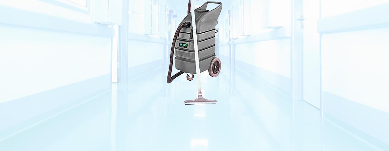 Equipo de limpieza en áreas médica y hospitales